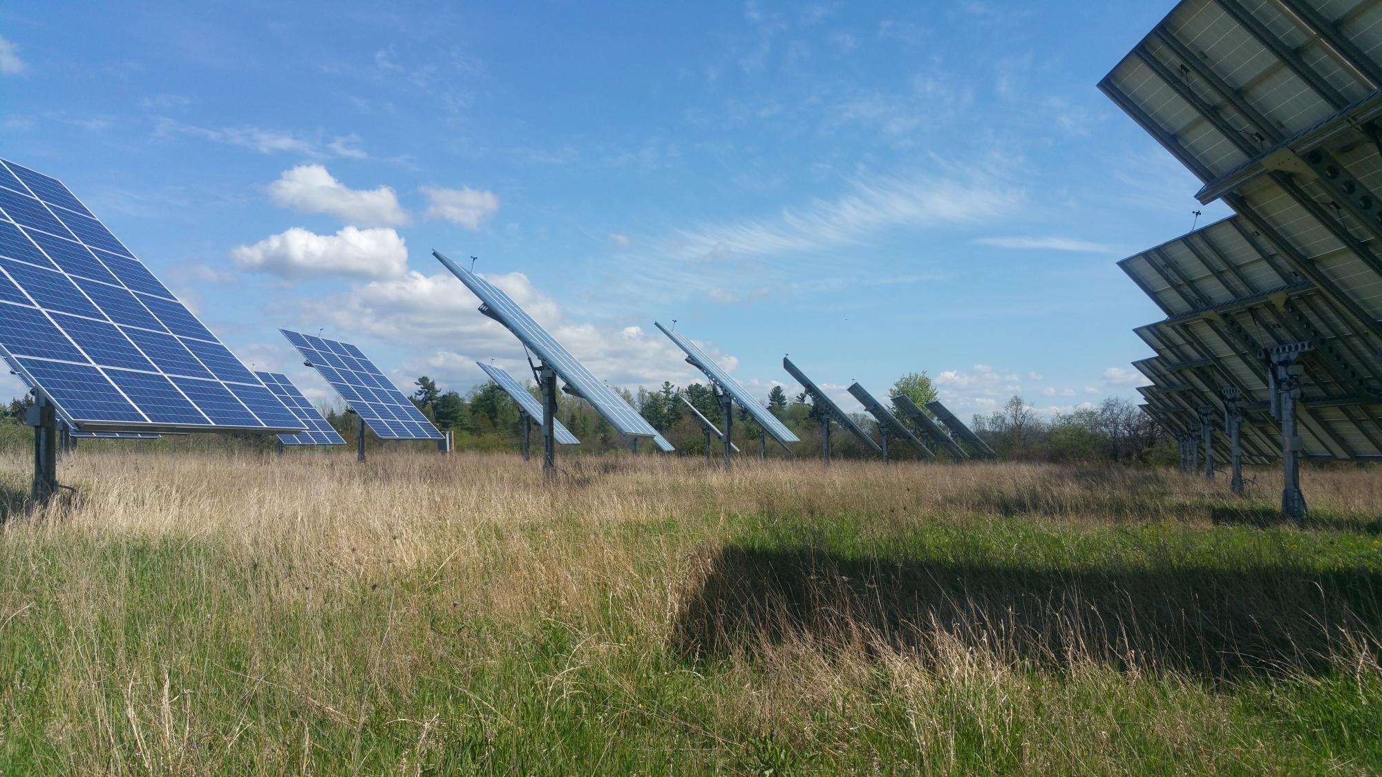 Dual-axis solar tracker
